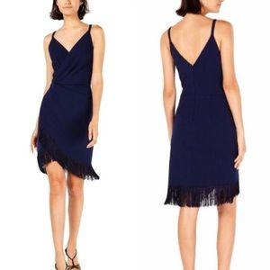 Betsey Johnson Fringe-Trim Sheath Dress